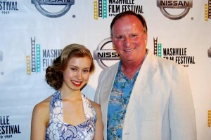 """With Sam Dalton, my co-star in """"Among Flowers"""", at The Nashville Film Festival."""